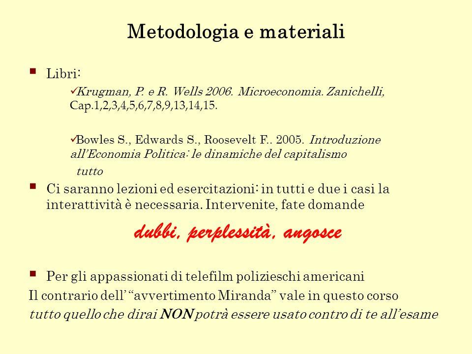 Metodologia e materiali