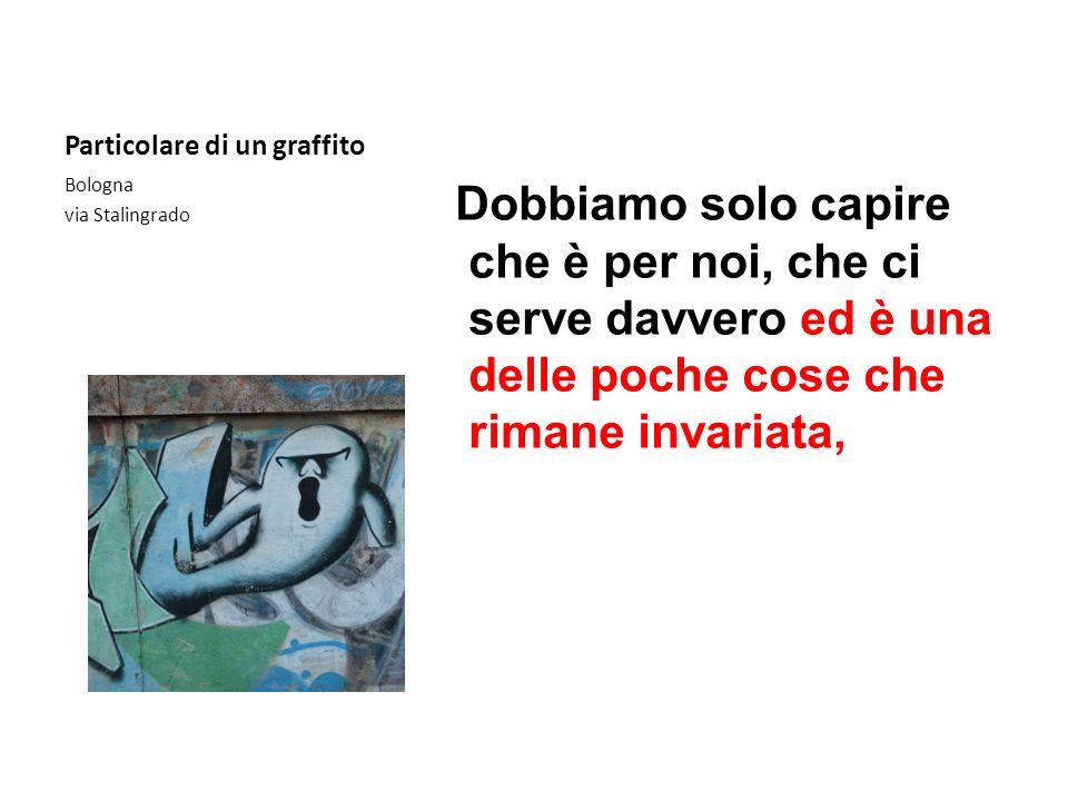 Particolare di un graffito