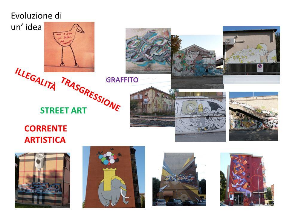 Evoluzione di un' idea ILLEGALITÀ TRASGRESSIONE STREET ART