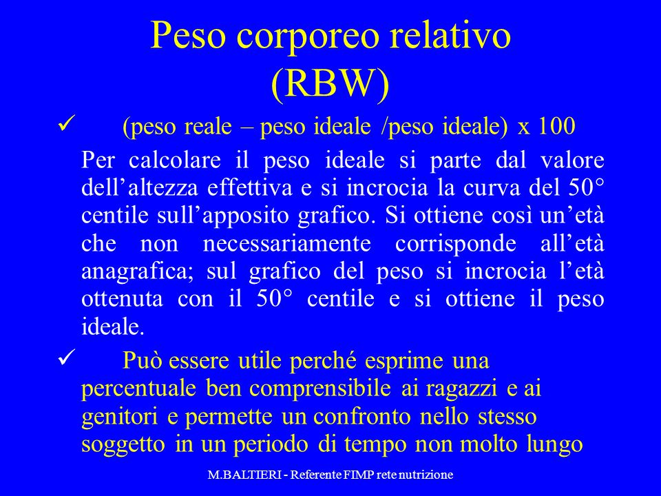 Peso corporeo relativo (RBW)