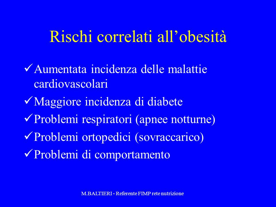 Rischi correlati all'obesità