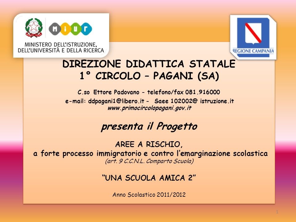 DIREZIONE DIDATTICA STATALE 1° CIRCOLO – PAGANI (SA) C