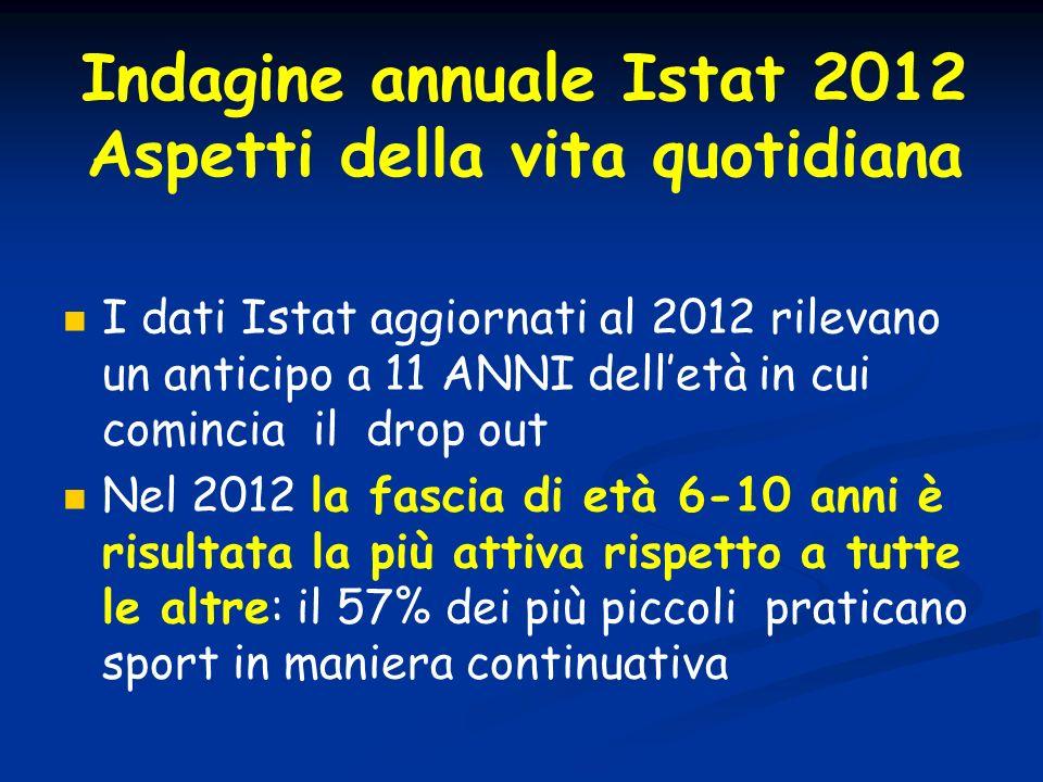 Indagine annuale Istat 2012 Aspetti della vita quotidiana