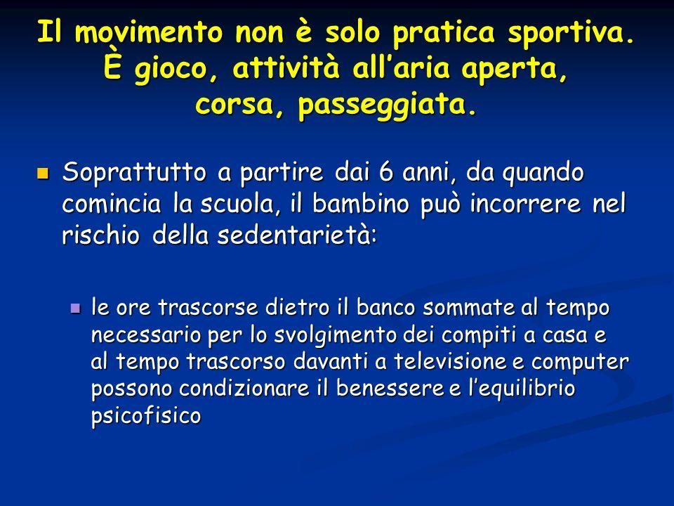 Il movimento non è solo pratica sportiva