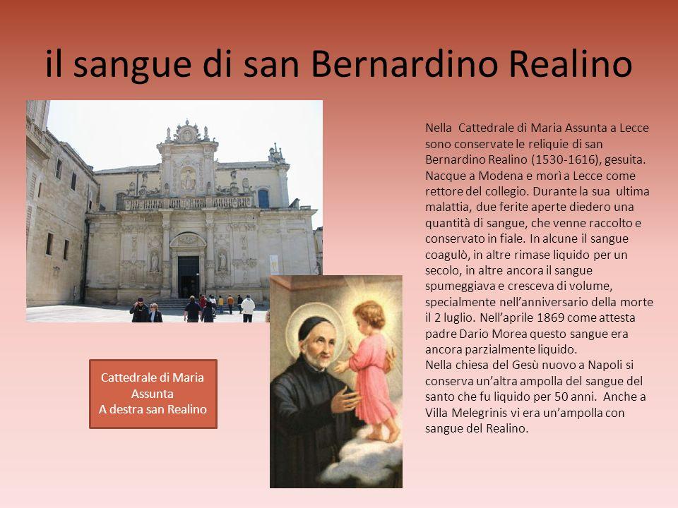 il sangue di san Bernardino Realino