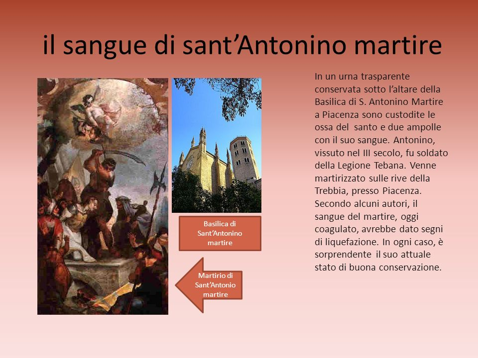 il sangue di sant'Antonino martire