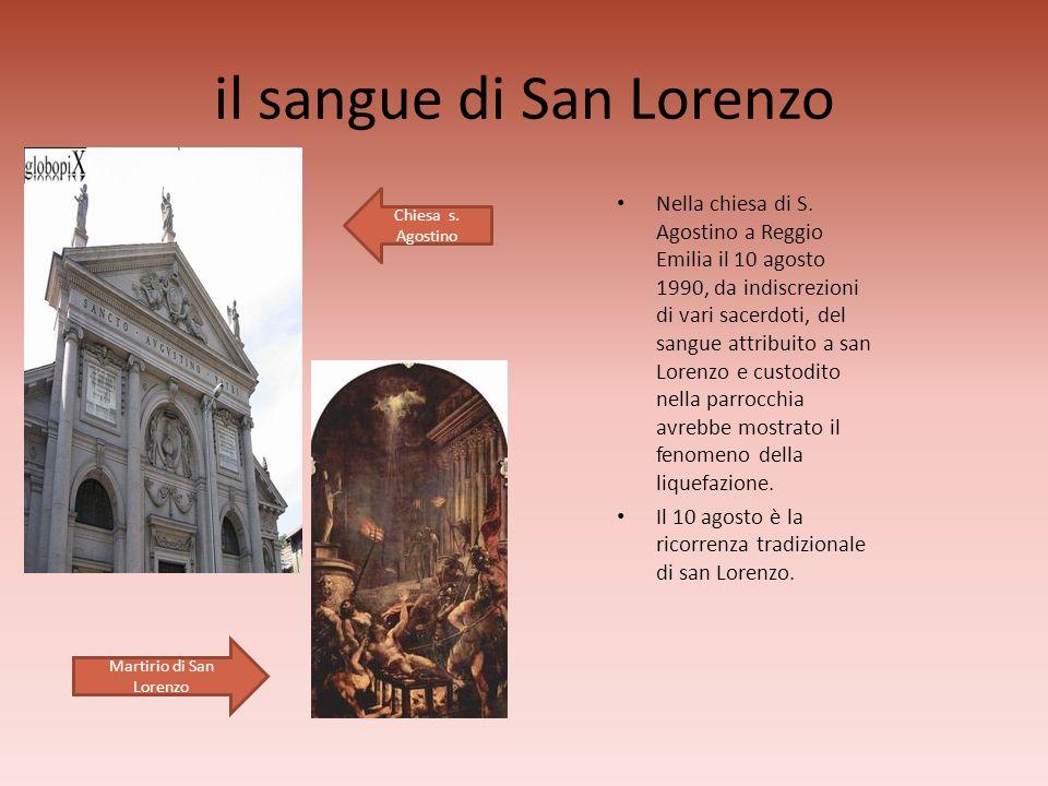 il sangue di San Lorenzo