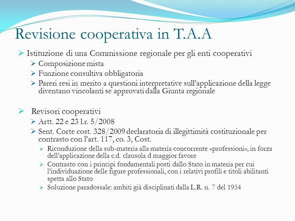 Revisione cooperativa in T.A.A