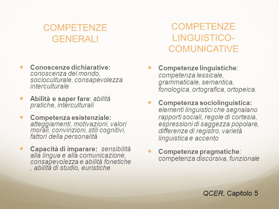 COMPETENZE LINGUISTICO-COMUNICATIVE