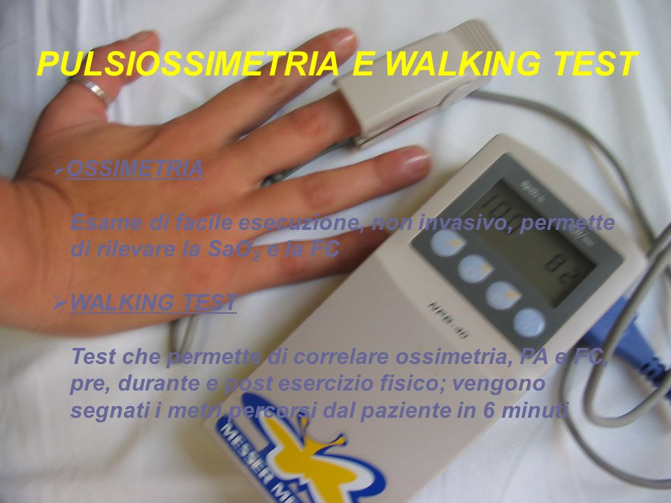 PULSIOSSIMETRIA E WALKING TEST
