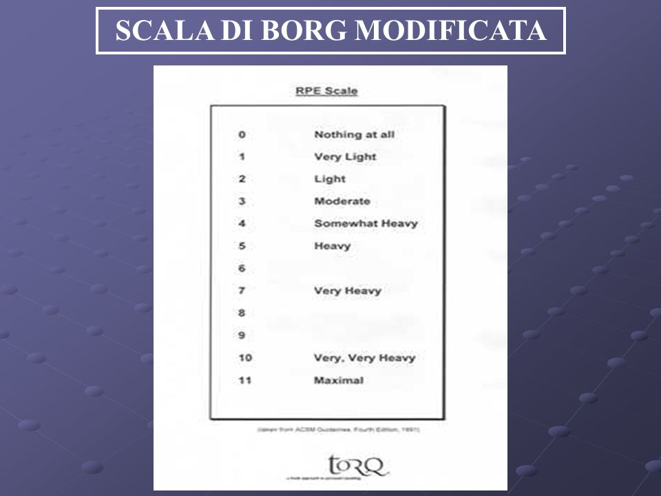 SCALA DI BORG MODIFICATA