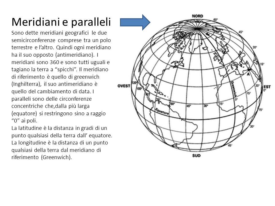 Meridiani e paralleli