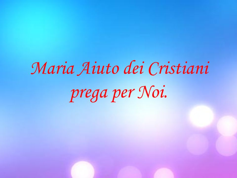 Maria Aiuto dei Cristiani