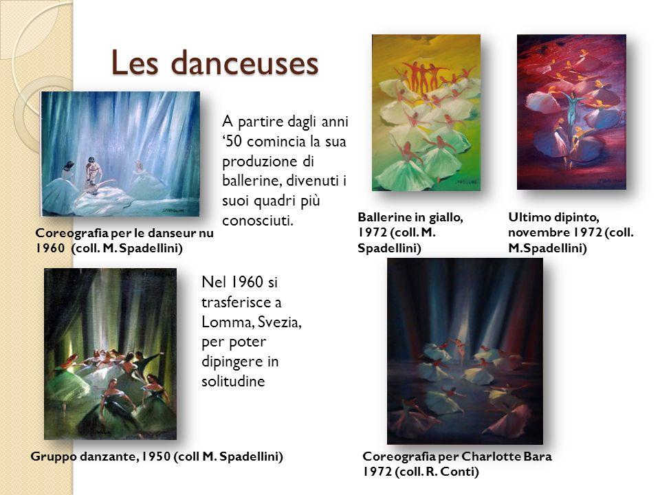 Les danceuses A partire dagli anni '50 comincia la sua produzione di ballerine, divenuti i suoi quadri più conosciuti.