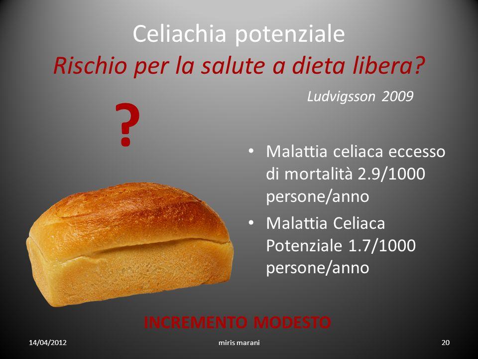 Celiachia potenziale Rischio per la salute a dieta libera