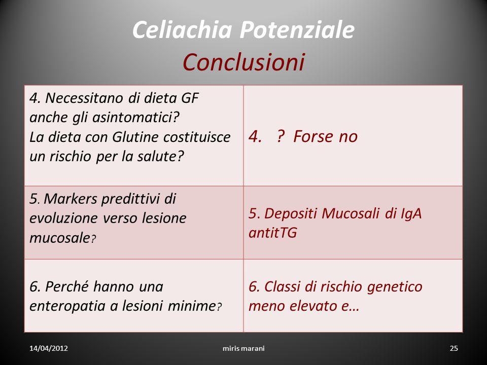 Celiachia Potenziale Conclusioni