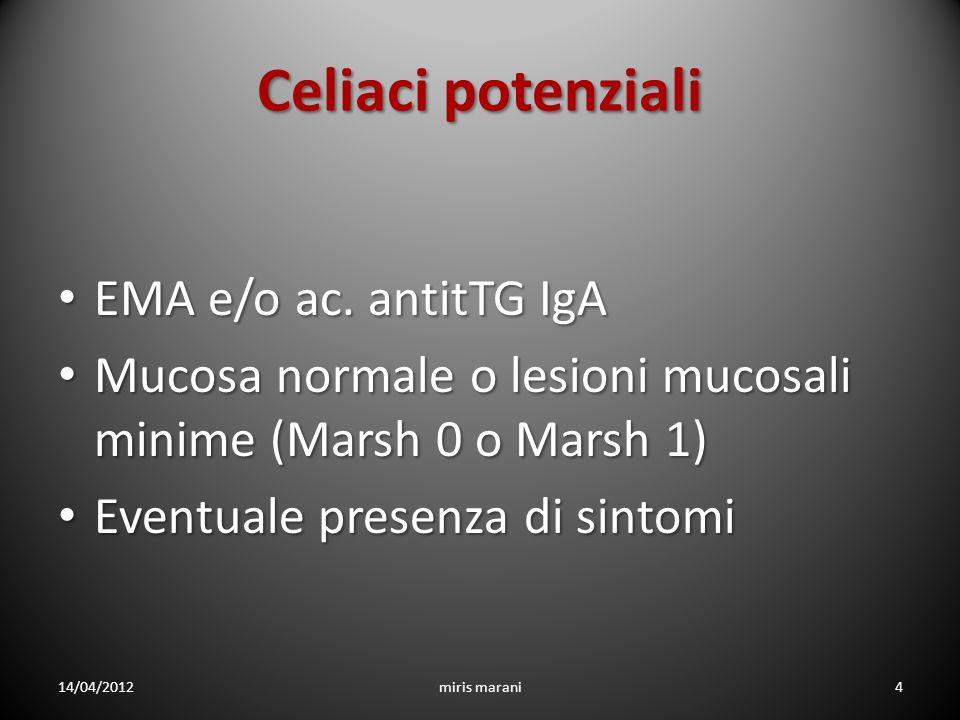 Celiaci potenziali EMA e/o ac. antitTG IgA