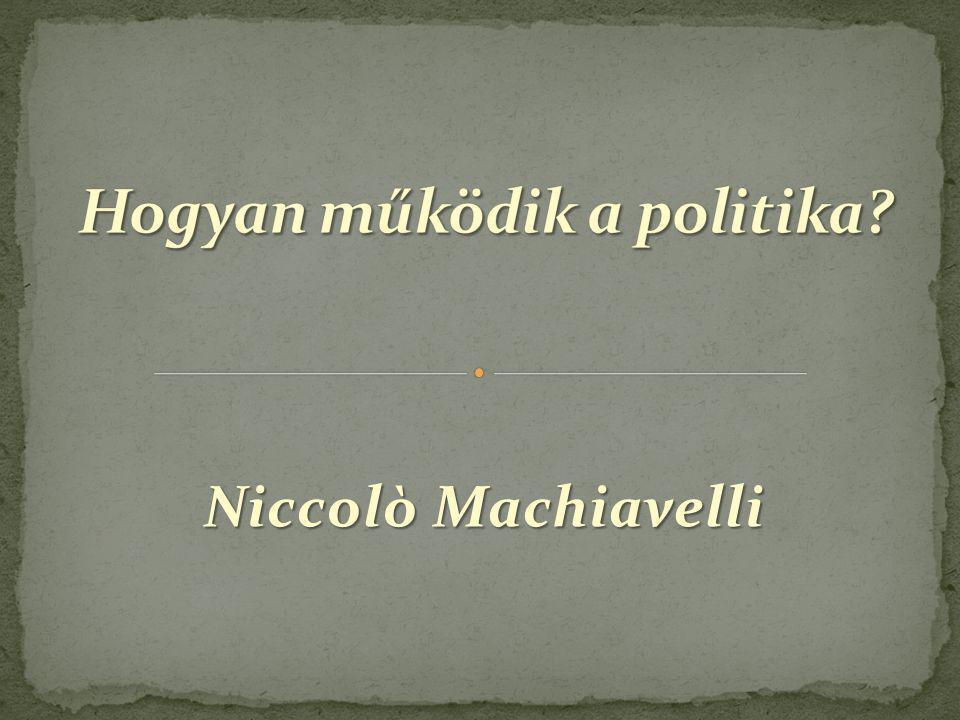 Hogyan működik a politika