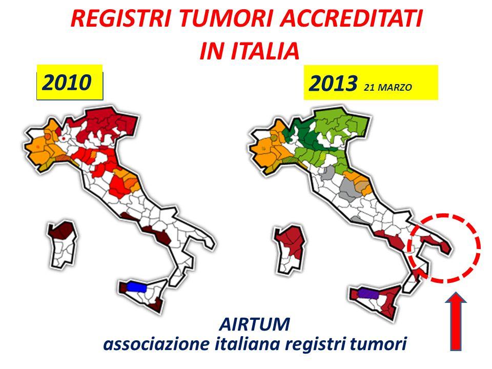 REGISTRI TUMORI ACCREDITATI IN ITALIA
