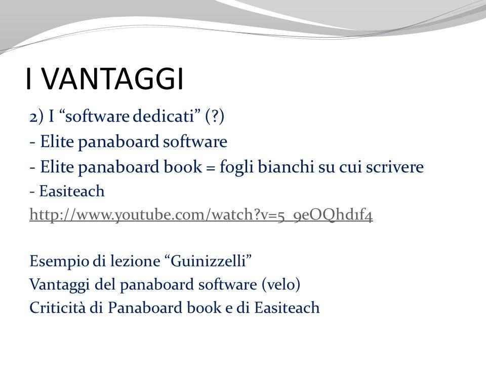 I VANTAGGI 2) I software dedicati ( ) - Elite panaboard software
