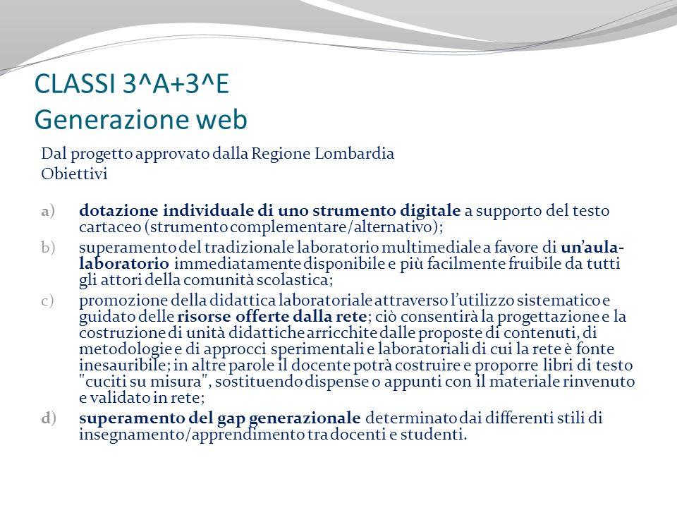 CLASSI 3^A+3^E Generazione web