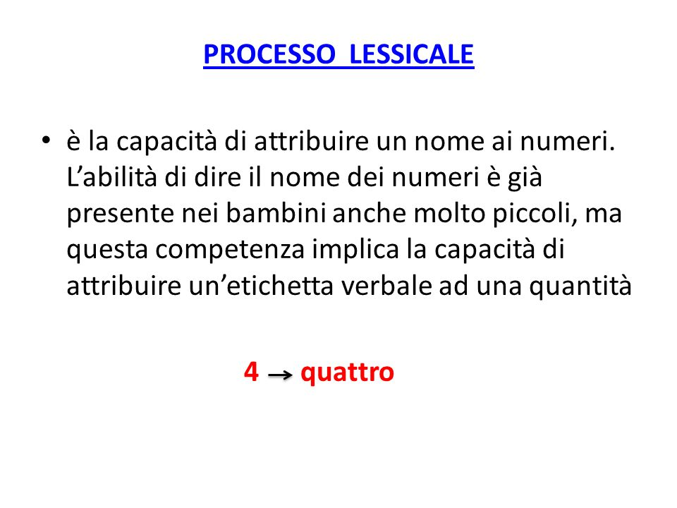 PROCESSO LESSICALE