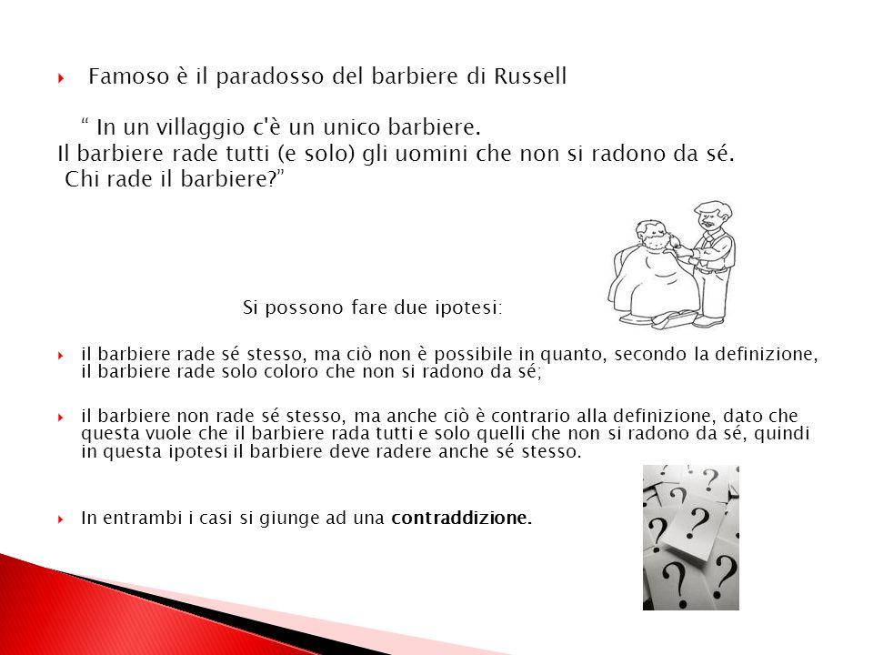 Famoso è il paradosso del barbiere di Russell
