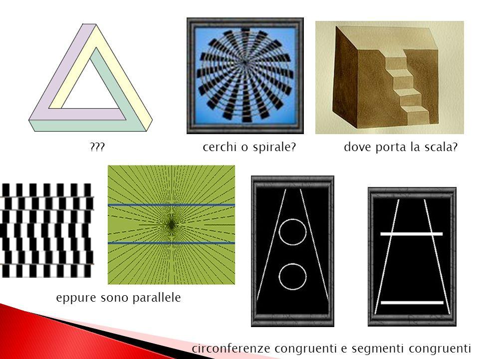 . cerchi o spirale. dove porta la scala. eppure sono parallele.