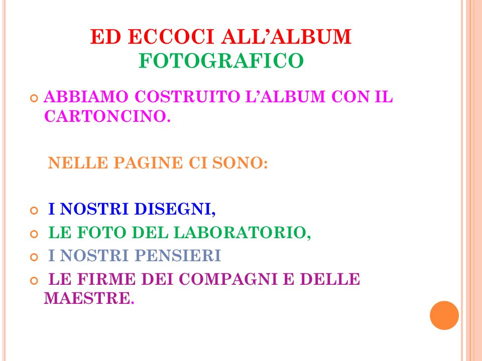ED ECCOCI ALL'ALBUM FOTOGRAFICO