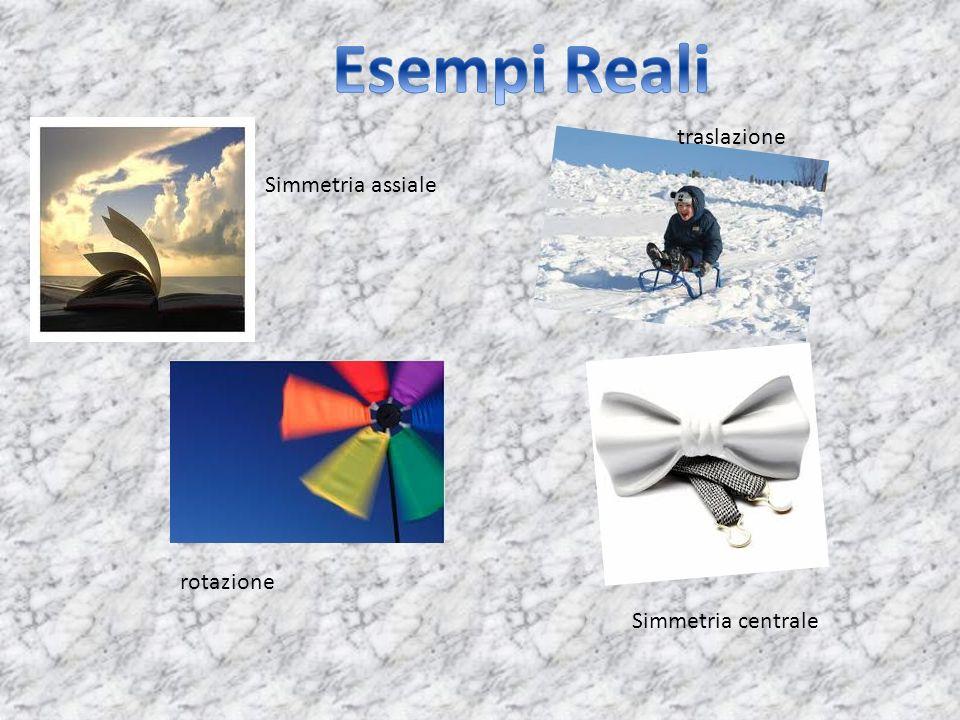 Esempi Reali traslazione Simmetria assiale rotazione