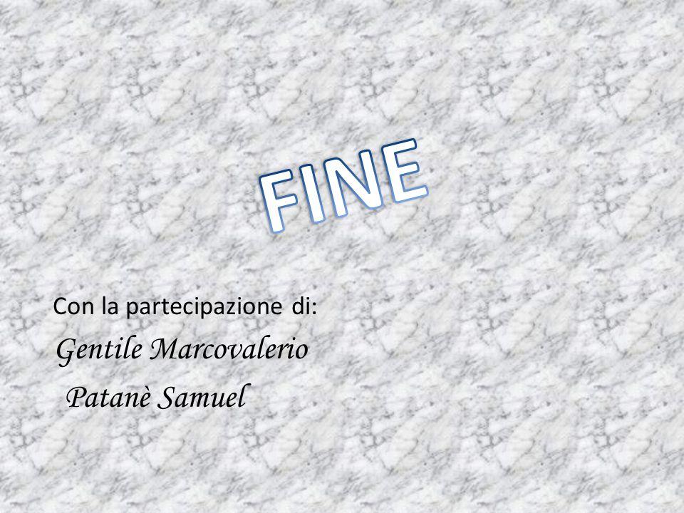 FINE Con la partecipazione di: Gentile Marcovalerio Patanè Samuel