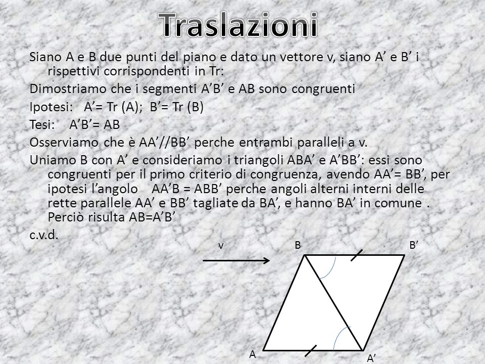 Traslazioni