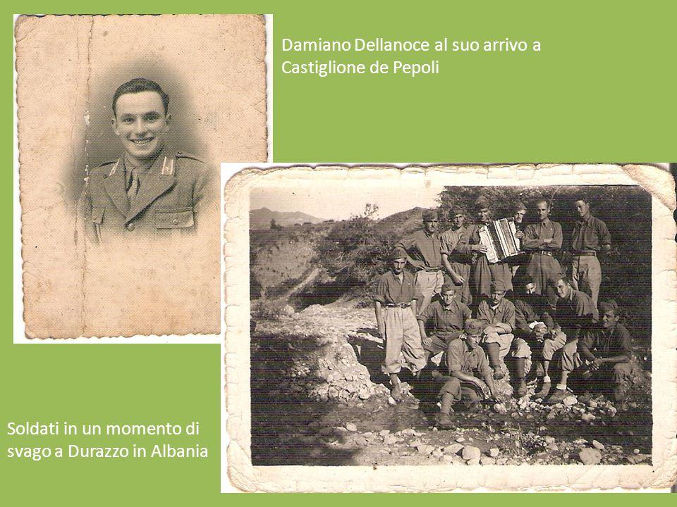 Damiano Dellanoce al suo arrivo a Castiglione de Pepoli