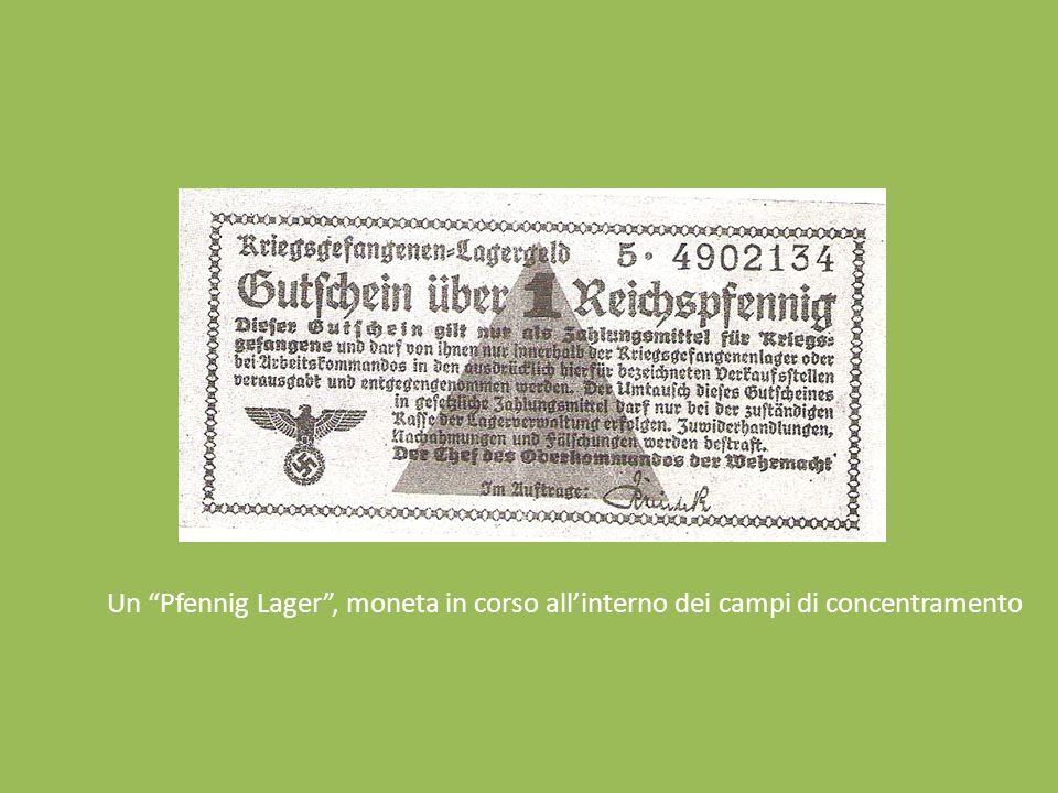 Un Pfennig Lager , moneta in corso all'interno dei campi di concentramento
