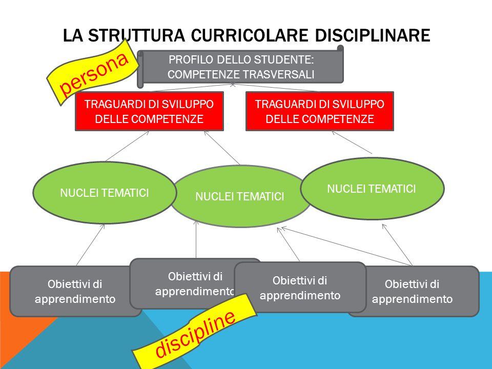 La struttura curricolare disciplinare