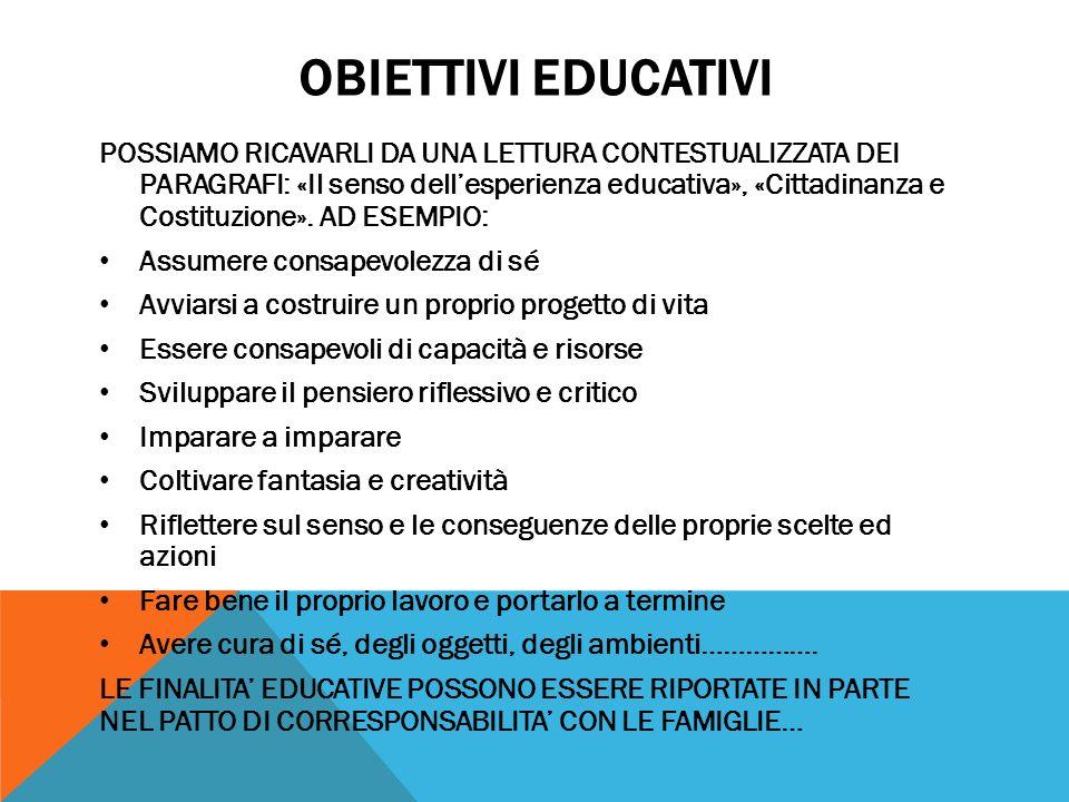 Obiettivi educativi