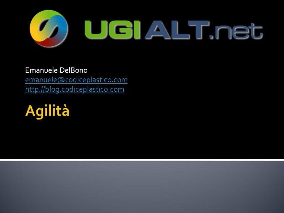 Agilità Emanuele DelBono emanuele@codiceplastico.com