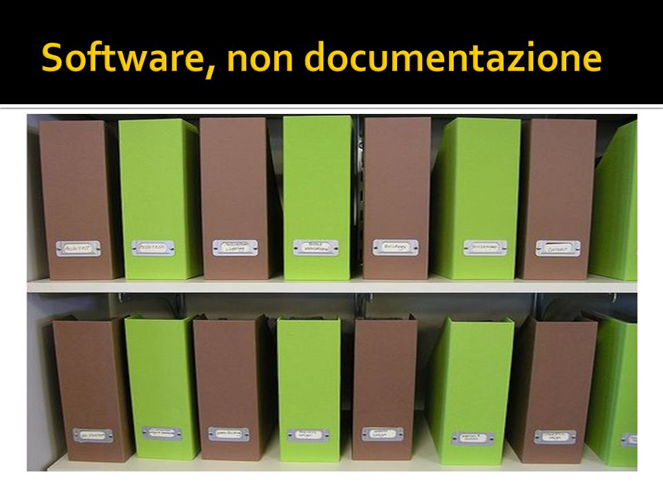 Software, non documentazione