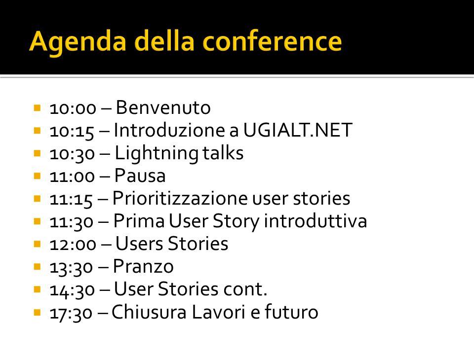 Agenda della conference