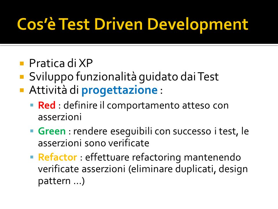 Cos'è Test Driven Development