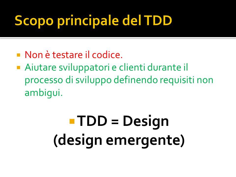 Scopo principale del TDD