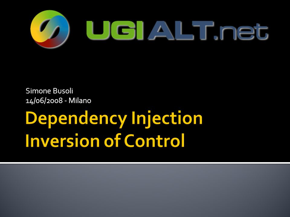 Dependency Injection Inversion of Control