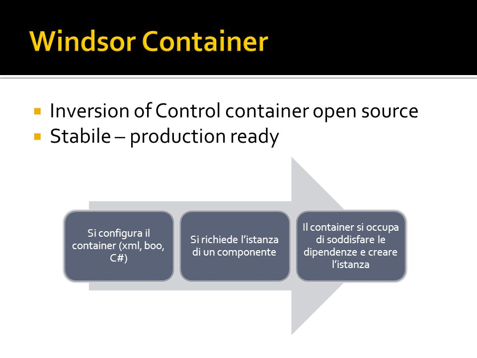 Windsor Container Inversion of Control container open source