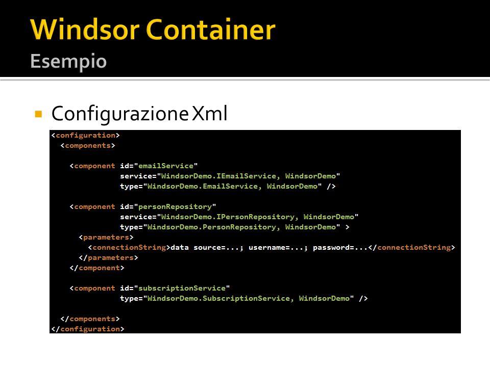 Windsor Container Esempio