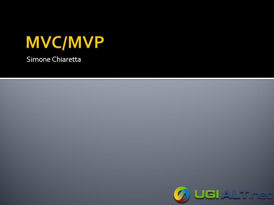 MVC/MVP Simone Chiaretta