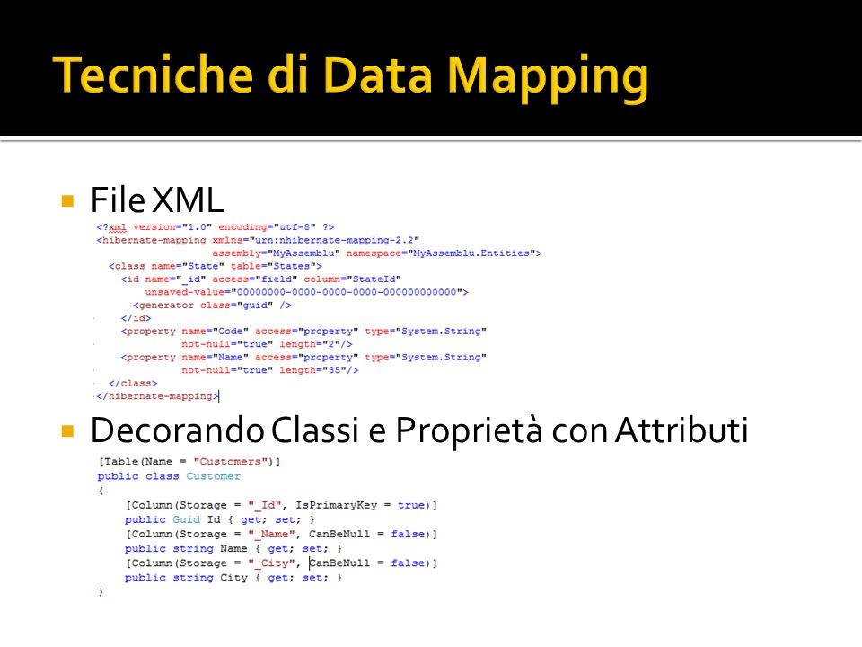 Tecniche di Data Mapping