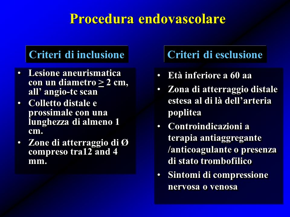 Procedura endovascolare
