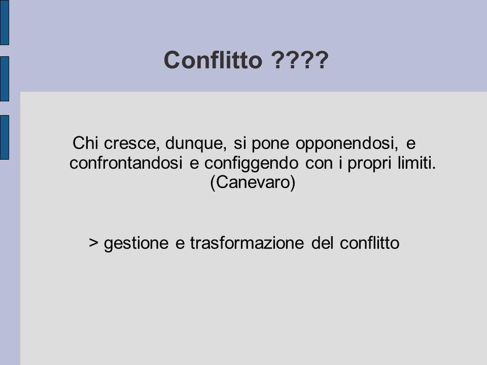 > gestione e trasformazione del conflitto