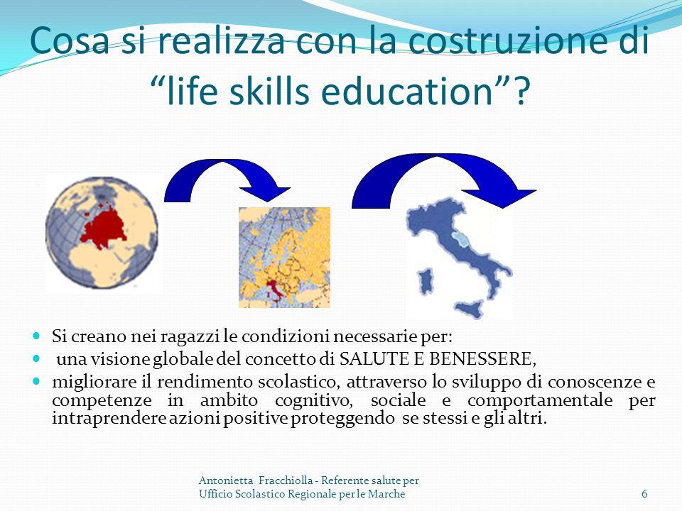 Cosa si realizza con la costruzione di life skills education