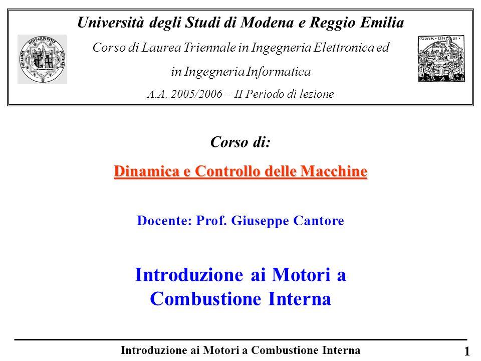Introduzione ai Motori a Combustione Interna